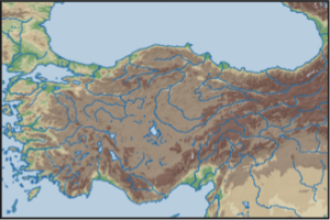 Topographic Map Asia.Research Ancient World Mapping Center