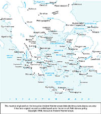 Ancient Greece Map Outline.Aegean Ancient World Mapping Center