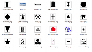 Resources ancient world mapping center map icons gumiabroncs Gallery