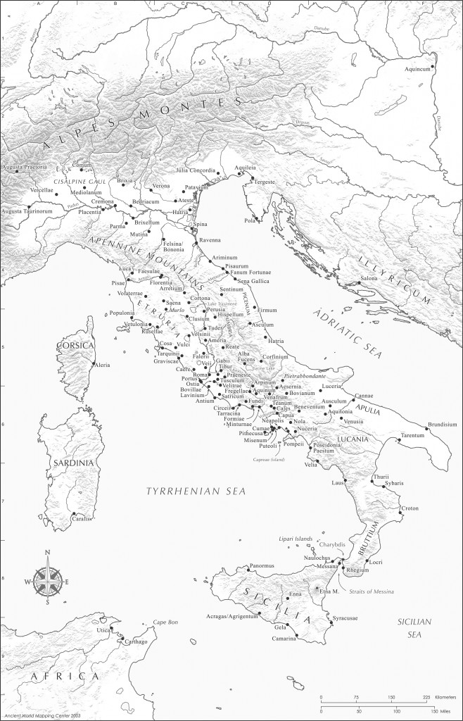 Pdf Map Of Italy.Free Maps Ancient World Mapping Center