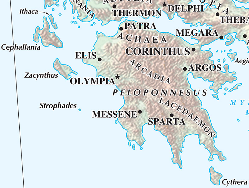 Atlas Adjustment: Strophades Inss | Ancient World Mapping Center