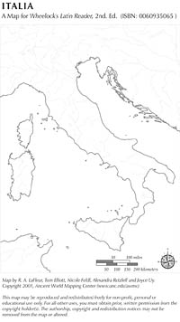 Italy And Sicily Ancient World Mapping Center - Ancient rome map blank